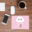 Mauspad Mousepad Mausunterlage kleine Wolke mit Herzen und Spruch a little smile for you Mousepad mouse pad little cloud with hearts and quote saying a little smile for you mp08
