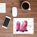 Mauspad Mousepad Mouse Pad Mausunterlage rosa Hund mit Spruch im Herzen Prinzessin Mousepad mouse pad pink dog with quote saying princess in the heart