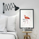 A3 Print Illustration Poster Flamingo mit Spruch be a flamingo in a flock of pigeons A3 Print illustration poster flamingo with qoutebe a flamingo in a flock of pigeons p04