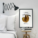 A3 Print Illustration Poster Faultier mit Spruch aus Langeweile hätte ich heute fast gearbeitet... A3 Print illustration poster sloth with qoute out of boredom i almost worked today… p12