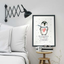 A3 Print Illustration Poster Pinguin mit Punkten und Spruch verlass dich auf dein Herz A3 Print illustration poster pinguin with dots and qoute saying count on your heart… p15