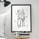 "A3 Print Illustration Poster Plakat Faultier mit Spruch ""klug war's nicht, aber geil"" A3 Print illustration poster sloth with saying ""it wasn't smart, but awesome"" p23"