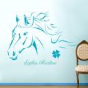 Wandtattoo-Pferdekopf