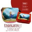Schulset Kindertasche und Lunchbox mit Märchen Sterntaler Mädchen im Wald mit Wunschnamen School set kindergarten bag and lunchbox with fairytale the star money girl in the forest with desired name S2