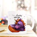 Tasse Becher Kindertasse Kinderbecher Kaffeetasse Kaffeebecher Tasse mit Einhorn mit Spruch Sprichwort Zitat I am a sleeping unicorn cup mug children cup children mug coffee cup coffee mug cup with unicorn with quote saying I'm a sleeping unicorn ts405
