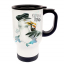 Tasse Becher Thermotasse Thermobecher Thermostasse Thermosbecher Kapitän Möwe mit Spruch Küstenkind cup mug thermo mug thermo cup captain seagull with saying coast child tb019