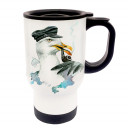Tasse Becher Thermotasse Thermobecher Thermostasse Thermosbecher Kapitän Möwe cup mug thermo mug thermo cup captain seagull tb020
