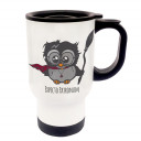 Tasse Becher Thermotasse Thermobecher Thermostasse Thermosbecher Magier Eule Zauberer Eulchen Harry mit Spruch Expecto Patronum cup mug thermo mug thermo cup magician owl wizard owl Harry with saying expecto patronum tb029