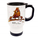 Thermobecher Thermotasse Thermosbecher Thermostasse Becher Tasse Eulen Eulchen Familie auf Ast mit Spruch Mom on tour thermo cup thermo mug thermal cup thermal mug owls little owl family on branch with saying mom on tour tb059