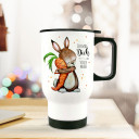 Thermobecher Thermotasse Thermosflasche Becher Tasse Kaffeebecher Hase und Möhre mit Spruch Ich mag dich vole Möhre Thermo cup rabbit with quote saying i like you full carrot