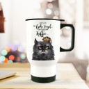 Thermobecher Thermotasse Thermosflasche Becher Tasse Kaffeebecher Grumpy Cat Katze mit Spruch der frühe Vogel...thermo cup thermal mug cup mug grumpy cat with quote saying the early bird...tb067