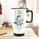 Thermobecher Thermotasse Thermosflasche Becher Tasse Kaffeebecher Einhorn mit Spruch man muss das Leben schaukeln thermo cup unicorn on swing with quote you have to rock your life tb071.jpg