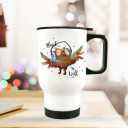 Thermobecher Thermotasse Thermosflasche Becher Tasse Eule mit Kopfhörer und Spruch Musik an Welt aus thermo cup owl with headphones and quote saying music on world off tb078.jpg