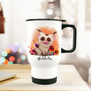 Thermobecher Thermotasse Thermosflasche Kaffeebecher Becher Tasse Schweinchen mit Spruch Glücksbecher thermo cup piggy piglet with quote saying happiness mug tb082.jpg