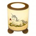 Hauptbild Tischlampe Einhorn auf Wiese Schmetterling Wunschname table lamp unicorn on meadow butterfly desired name