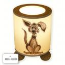 Hauptbild Tischlampe liegendes süßer Hund Hündchen Wunschname table lamp sweet dog desired name