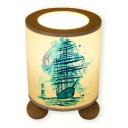 Tischlampe Segler Schiff mit Leuchtturm tl042 table lamp sailor ship with lighthouse tl042