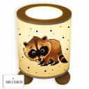 Tischlampe Leselampe Nachttischlampe Lampe Waschbär mit Punkten table lamp reading light bedside lamp light raccoon with dots tl043