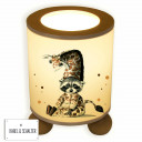 Tischlampe Nachttischlampe Kinderlampe Schlummerlampe Lampe Waschbär im Giraffenkostüm table lamp snooze light lamp raccoon in giraffe costume tl048