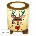 Tischlampe Nachttischlampe Kinderlampe Schlummerlampe Lampe Reh Hirsch Mädchen Indianer Boho mit Punkten table lamp reading light snooze lamp deer girl stag indian bohowith dots tl052