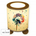 Tischlampe Nachttischlampe Kinderlampe Schlummerlampe Lampe Pusteblume Blume Löwenzahn Aquarell mit Punkten table lamp reading light snooze lamp dandelion flower watercolor with dots tl054