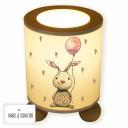 Lampe Tischlampe Nachttischlampe Schlummerlampe Leselampe Hase Häschen mit Luftballon und Herzen table lamp snooze light reading lamp rabbit bunny with balloon and hearts tl068