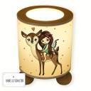 Lampe Tischlampe Nachttischlampe Kinderlampe Schlummerlampe mit Schalter Fee Elfe mit Reh Rehkitz Bambi und Punkte table lamp elf fairy with deer fawn bambi and dots tl072.jpg