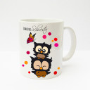 Tasse Becher Kaffeetasse Kaffeebecher Kindertasse Kinderbecher Eulen Eulchen mit Konfetti und Schmetterling Lieblingsschwester cup mug kids cup kids mug coffee cup coffee mug owls little owls with confetti and butterfly favourite sister ts138