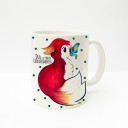 "Tasse Fuchs mit Schmetterling Punkten und Spruch ""Du bist mein Lieblingsmensch"" Cup fox with butterfly dots and saying ""you are my favourite person"" ts221"