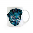 Tasse mit Universum Sternen Planeten und Spruch you're my universe cup with outer space stars planets and saying you're my universe ts288