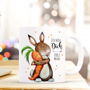 Tasse Becher Kaffeetasse Kaffeebecher Kindertasse Kinderbecher Hase Karotte und Spruch ich mag dich volle Möhre cup mug children cup children mug coffee cup coffee mug rabbit carrot and saying i like you full carrot ts362
