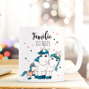 Tasse Becher Kindertasse Kinderbecher Kaffeetasse Kaffeebecher Einhorntasse Einhörner Einhorn Familie mit Spruch Familie ist alles cup mug coffee cup coffee mug children cup children mug unicorns unicorn family with saying family is everything ts371