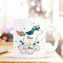 Becher Tasse Kaffeetasse Kaffeebecher Einhorn Punkte und Spruch Home is where mom is Cup mug coffee mug unicorn with dots and quote saying home is where mom is ts429_H.jpg