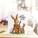 Tasse Becher Kaffeetasse Kaffeebecher zum Muttertag mit Hasen Punkten und Spruch Beste Mama der Welt Cup mug coffee cup coffee mug for mother's day with rabbits dots and quote saying best mum in the world ts432_H.jpg