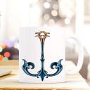 Tasse Becher Kaffeetasse Kaffeebecher Maritim mit Anker in blau Jugendstil Cup mug coffee cup coffee mug maritime with anchor art nouveau ts435_H.jpg