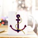 Tasse Becher Kaffeetasse Kaffeebecher Maritim mit Anker in blau und Spruch Home Cup mug coffee cup coffee mug maritime with anchor and quote saying home ts437_H.jpg