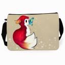 Schultertasche Schultasche Tasche Rotfüchschen mit Schmetterling satchel sling bag school bag red fox with butterfly tsu04