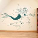 wanddeko-meerjungfrau-delfin