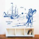 wandtattoo-piratenschiff