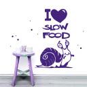 Wandtattoo Schnecke Slow Food