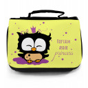 Waschtasche Kosmetiktasche Eule Prinzessin keep kalm and be princess toilet bag owl princess wt012