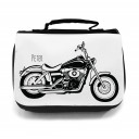 Waschtasche Kosmetiktasche Motorrad Shopper mit Wunschname toilet bag motorcycle shopper with desired name wt016
