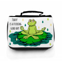 Waschtasche Kosmetiktasche Yoga Frosch good day toilet bag yoga frog good day wt020