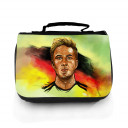 Waschtasche Waschbeutel Kulturbeutel Kosmetiktasche Reisewaschtasche Fussball Fussballer Götze wt100 Washbag toilet bag sponge bag cosmetics bag travel washbag football soccer player Götze wt100