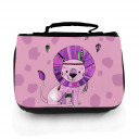 Waschtasche Waschbeutel Kulturbeutel Kosmetiktasche Reisewaschtasche Boho Löwe lila mit Wunschnamen washbag toilet bag sponge bag cosmetics bag travel washbag boho lion purple with custom name wt139