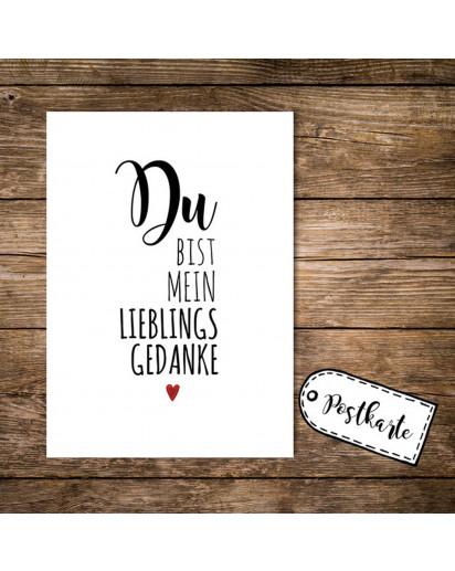 A6 Postkarte Print mit Spruch Du bist mein